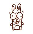 Hand Drawn Bunny vector image vector image
