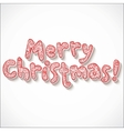 Hand lettering ornate Merry Christmas sign vector image vector image