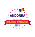 independence day of andorra patriotic banner vector image