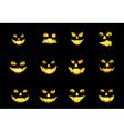 Jack o lantern faces vector image vector image