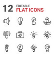 lightbulb icons vector image vector image