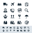Logistics and shipping icon set simplicity theme vector | Price: 1 Credit (USD $1)
