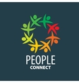logo people vector image vector image
