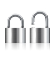 open and closed padlocks vector image