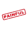 Painful Rubber Stamp vector image vector image