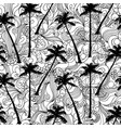 palm and doodle seamless pattern vector image vector image