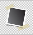 photo frame with adhesive tape on isolated vector image vector image