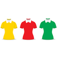polo shirt outline vector image vector image