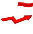 red arrow hand drawn sketch vector image vector image