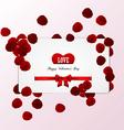 rose petals card vector image