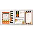 Save the Date Wedding Invitation Card with vector image