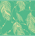 seamless pattern from feathers of birds vector image vector image