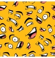 Seamless pattern with funny cartoon emotions