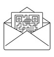 secured envelope letter icon outline style vector image vector image