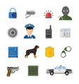 security icons isolated on white background vector image