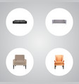 set of furniture realistic symbols with lounge vector image vector image