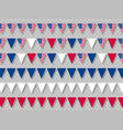 set usa bunting flags in traditional colors vector image vector image