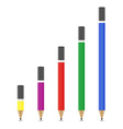 sharpened pencil 04 vector image vector image