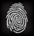 Sketchy fingerprint vector image vector image