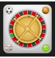 Symbol roulette casino for sports betting with vector image vector image
