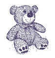 teddy bear drawing vector image vector image