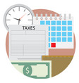 time pay tax icon vector image vector image
