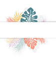 tropical design with colorful palm leaves vector image