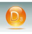 vitamin D3 vector image vector image