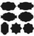 Set of blank vintage frame badges and labels vector image