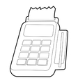 Card reader icon outline style vector image