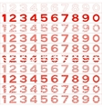 Numbers big set vector image