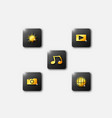 3 d gold smartphone app icons