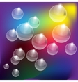 Abstract color bubbles background vector image vector image