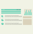 background graphic diagram business infographic vector image vector image