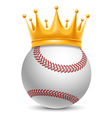 Baseball ball in crown vector image vector image