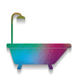 bathtub sign colorful icon with bright vector image vector image