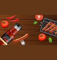 bbq grill and sauce realistic grill vector image vector image