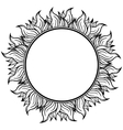 Black white circle frame with spurts of flame vector image vector image
