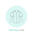 blouse icon line element of vector image