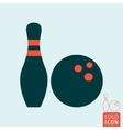 Bowling game icon vector image vector image