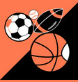 bright poster different sport balls vector image