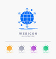 business international net network web 5 color vector image