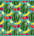 cartoon fresh watermelon banana apple fruits in vector image