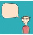 Cartoon man talking vector image vector image