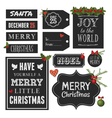 Chalkboard Style Christmas Retro Design Elements