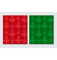 Christmas themed seamless patterns vector image