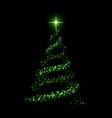 christmas tree card background green christmas vector image vector image