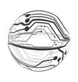 Circuit board circle icon Technology design vector image vector image