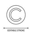 copyright symbol linear icon vector image