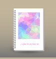 cover of diary or notebook holographic pattern vector image
